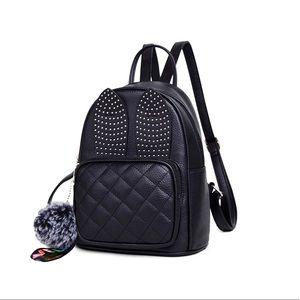 Handbags - Girls Rabbit Ear Cute Mini Leather Backpack